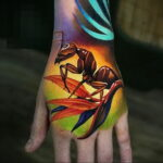Фото пример рисунка татуировки с муравьем 21.03.2021 №131 - ant tattoo - tatufoto.com