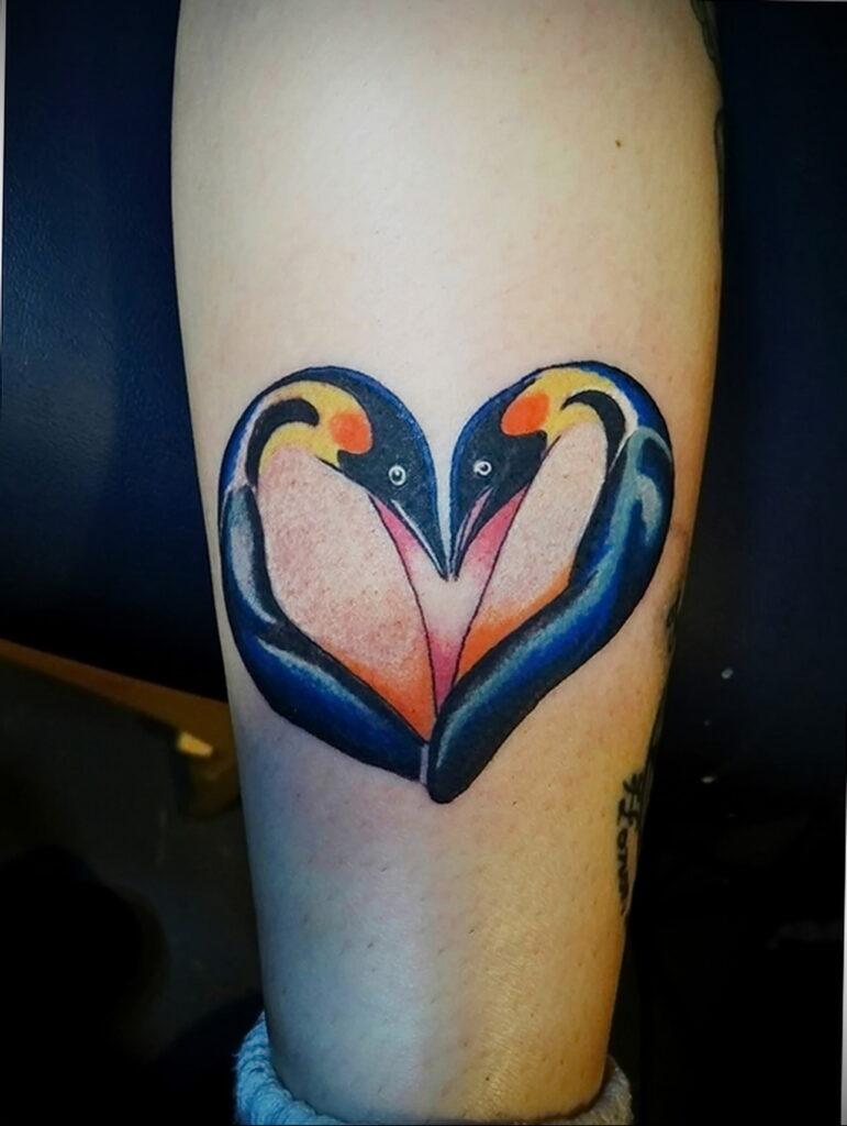Фото тату сердце пример рисунка 09.02.2021 №0126 - heart tattoo - tatufoto.com