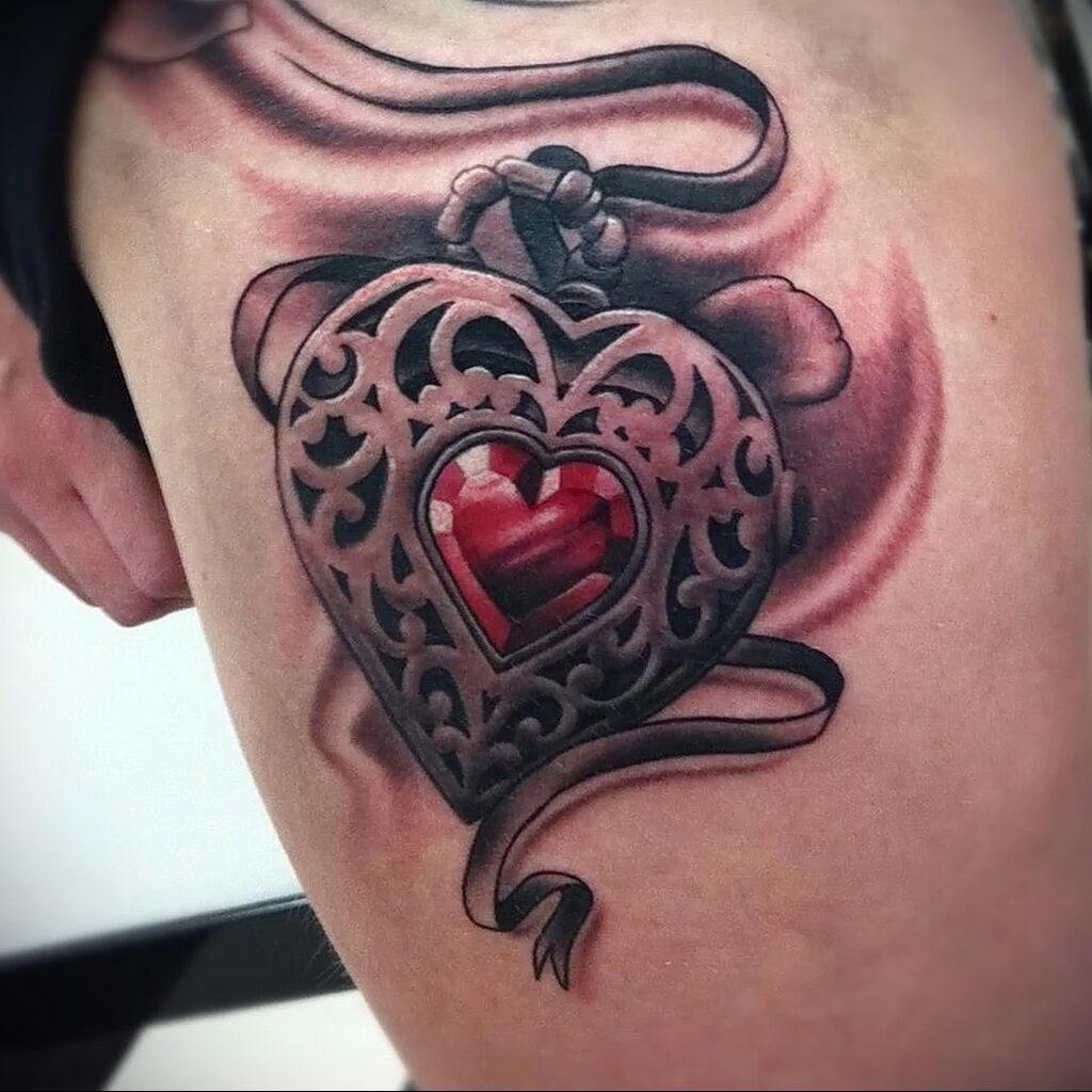 Фото тату сердце пример рисунка 09.02.2021 №0136 - heart tattoo - tatufoto.com