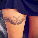 женская татуировка подвязка для Чулок 27.02.2021 №0035 - tattoo garter - tatufoto.com
