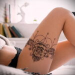 женская татуировка подвязка для Чулок 27.02.2021 №0040 - tattoo garter - tatufoto.com