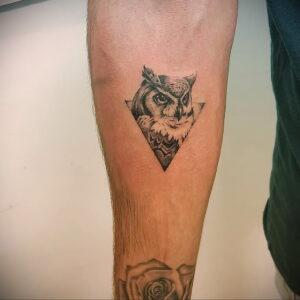 маленькая тату с совой на фото 15.02.2021 №0011 - little owl tattoo- tatufoto.com
