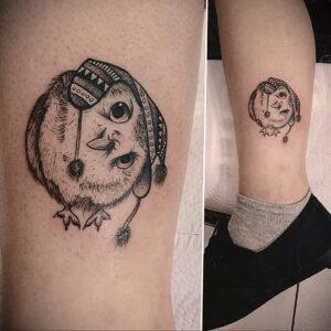маленькая тату с совой на фото 15.02.2021 №0013 - little owl tattoo- tatufoto.com
