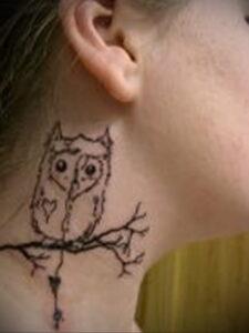 маленькая тату с совой на фото 15.02.2021 №0072 - little owl tattoo- tatufoto.com