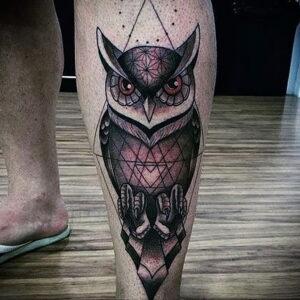 мужской рисунок тату с совой пример 15.02.2021 №0026 - owl tattoo men - tatufoto.com