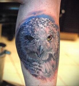 мужской рисунок тату с совой пример 15.02.2021 №0087 - owl tattoo men - tatufoto.com