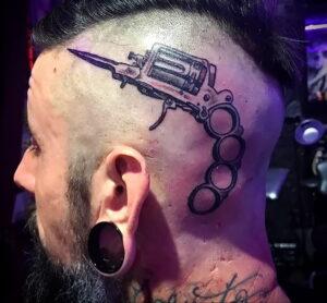 пример рисунка тату револьвер на фото 16.02.2021 №0060 - tattoo revolver - tatufoto.com
