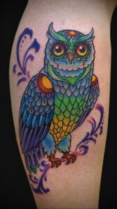 пример рисунка тату сова на руке 15.02.2021 №0031 - owl tattoo on arm - tatufoto.com