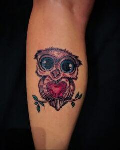 пример рисунка тату сова на руке 15.02.2021 №0041 - owl tattoo on arm - tatufoto.com