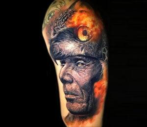 пример рисунка тату сова реализм 15.02.2021 №0063 - owl tattoo realism - tatufoto.com