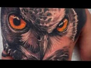 пример рисунка тату сова реализм 15.02.2021 №0112 - owl tattoo realism - tatufoto.com