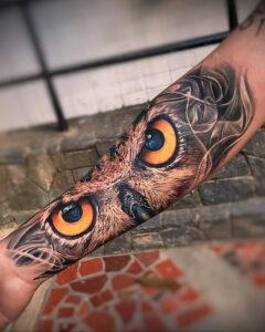 тату глаза совы пример рисунка 15.02.2021 №0002 - owl eyes tattoo - tatufoto.com