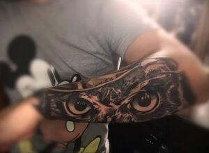 тату глаза совы пример рисунка 15.02.2021 №0007 - owl eyes tattoo - tatufoto.com