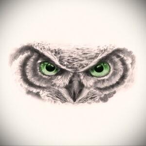 тату глаза совы пример рисунка 15.02.2021 №0013 - owl eyes tattoo - tatufoto.com