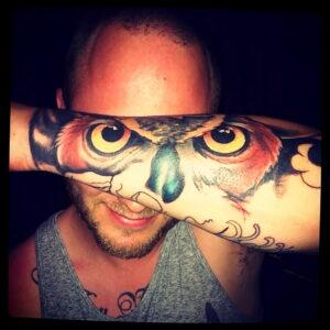 тату глаза совы пример рисунка 15.02.2021 №0014 - owl eyes tattoo - tatufoto.com