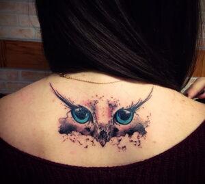 тату глаза совы пример рисунка 15.02.2021 №0016 - owl eyes tattoo - tatufoto.com
