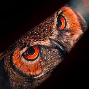 тату глаза совы пример рисунка 15.02.2021 №0022 - owl eyes tattoo - tatufoto.com