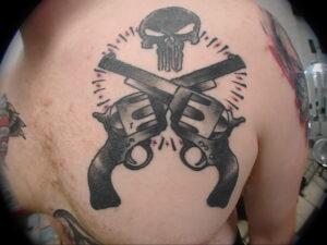 тату револьвер фото пример рисунка 16.02.2021 №0018 - tattoo revolver - tatufoto.com