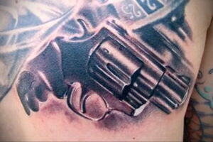 тату револьвер фото пример рисунка 16.02.2021 №0100 - tattoo revolver - tatufoto.com