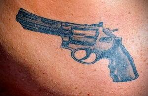 тату револьвер фото пример рисунка 16.02.2021 №0107 - tattoo revolver - tatufoto.com