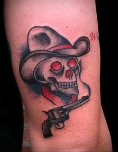 тату револьвер фото пример рисунка 16.02.2021 №0122 - tattoo revolver - tatufoto.com