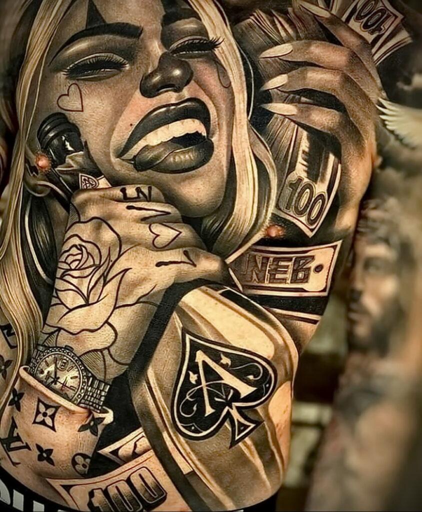 Фото крутого рисунка татуировки 16.03.2021 №016 - cool tattoo - tatufoto.com
