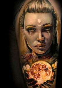 Фото крутого рисунка татуировки 16.03.2021 №076 - cool tattoo - tatufoto.com