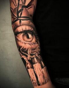 Фото крутого рисунка татуировки 16.03.2021 №159 - cool tattoo - tatufoto.com