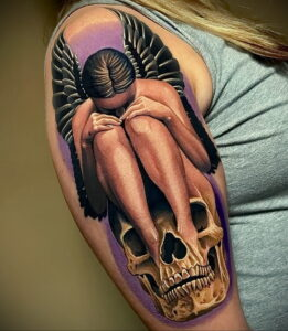Фото крутого рисунка татуировки 16.03.2021 №176 - cool tattoo - tatufoto.com