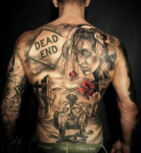 Фото крутого рисунка татуировки 16.03.2021 №201 - cool tattoo - tatufoto.com