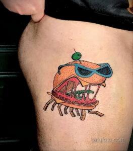 Фото рисунка татуировки с гамбургером 26.03.2021 №010 - burger tattoo - tatufoto.com