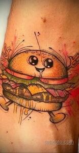 Фото рисунка татуировки с гамбургером 26.03.2021 №021 - burger tattoo - tatufoto.com