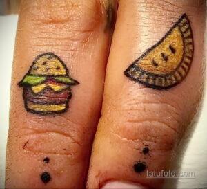 Фото рисунка татуировки с гамбургером 26.03.2021 №033 - burger tattoo - tatufoto.com