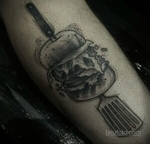 Фото рисунка татуировки с гамбургером 26.03.2021 №034 - burger tattoo - tatufoto.com