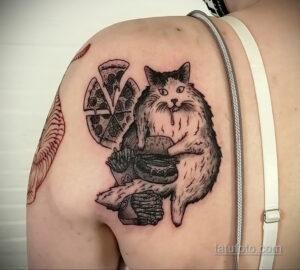 Фото рисунка татуировки с гамбургером 26.03.2021 №043 - burger tattoo - tatufoto.com