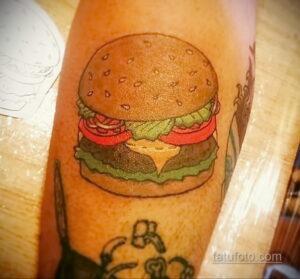 Фото рисунка татуировки с гамбургером 26.03.2021 №063 - burger tattoo - tatufoto.com