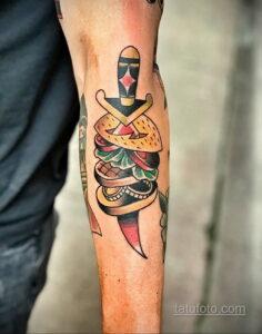 Фото рисунка татуировки с гамбургером 26.03.2021 №097 - burger tattoo - tatufoto.com