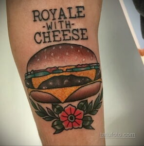 Фото рисунка татуировки с гамбургером 26.03.2021 №101 - burger tattoo - tatufoto.com