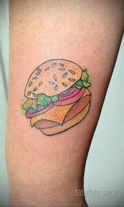 Фото рисунка татуировки с гамбургером 26.03.2021 №111 - burger tattoo - tatufoto.com