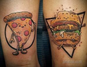 Фото рисунка татуировки с гамбургером 26.03.2021 №121 - burger tattoo - tatufoto.com