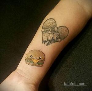 Фото рисунка татуировки с гамбургером 26.03.2021 №124 - burger tattoo - tatufoto.com