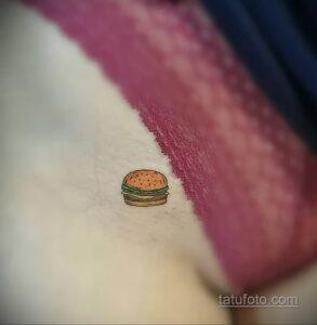 Фото рисунка татуировки с гамбургером 26.03.2021 №127 - burger tattoo - tatufoto.com