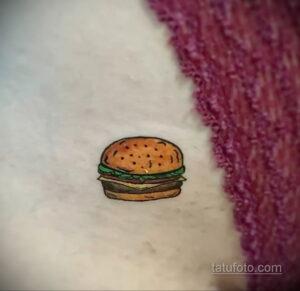 Фото рисунка татуировки с гамбургером 26.03.2021 №128 - burger tattoo - tatufoto.com