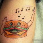 Фото рисунка татуировки с гамбургером 26.03.2021 №300 - burger tattoo - tatufoto.com