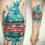 Фото рисунка татуировки с гамбургером 26.03.2021 №304 - burger tattoo - tatufoto.com