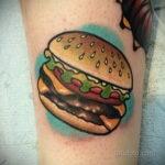 Фото рисунка татуировки с гамбургером 26.03.2021 №309 - burger tattoo - tatufoto.com