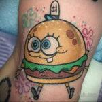 Фото рисунка татуировки с гамбургером 26.03.2021 №318 - burger tattoo - tatufoto.com