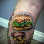 Фото рисунка татуировки с гамбургером 26.03.2021 №325 - burger tattoo - tatufoto.com
