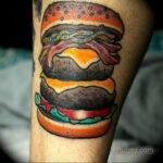 Фото рисунка татуировки с гамбургером 26.03.2021 №328 - burger tattoo - tatufoto.com