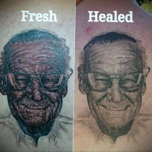 Фото старения татуировки 15.03.2021 №007 - aging tattoo - tatufoto.com